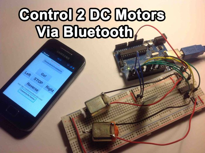 Arduino - Control 2 DC Motors Via Bluetooth | Random Nerd