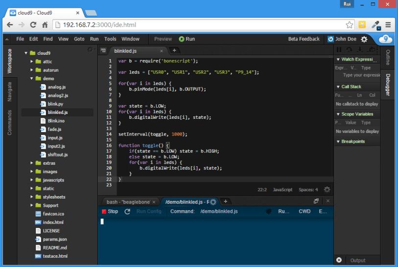 Cloud9 IDE on the BeagleBone Black   Random Nerd Tutorials