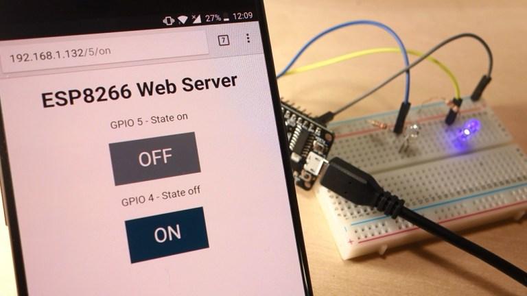 Build an ESP8266 Web Server - Code and Schematics (NodeMCU)