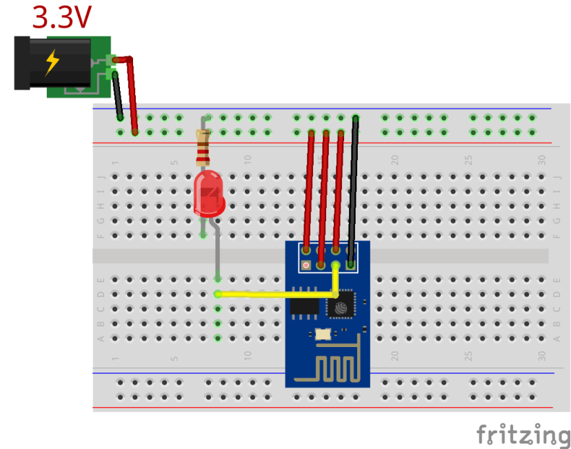 ESP8266 ESP-01 Blinking an LED with Arduino IDE