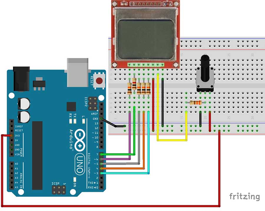 Complete guide for nokia lcd with arduino random