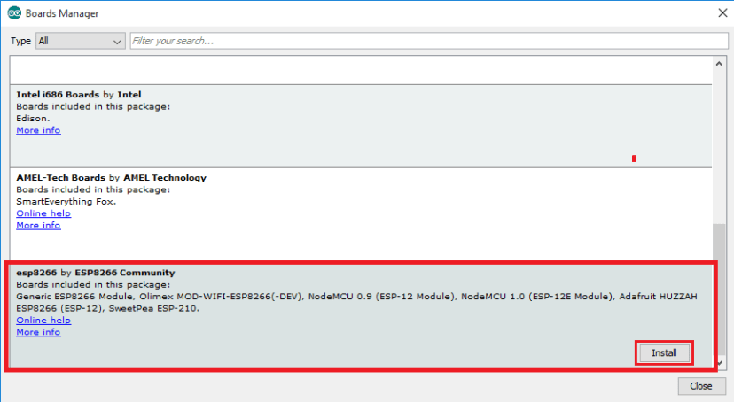 Install ESP8266 Boards Arduino IDE