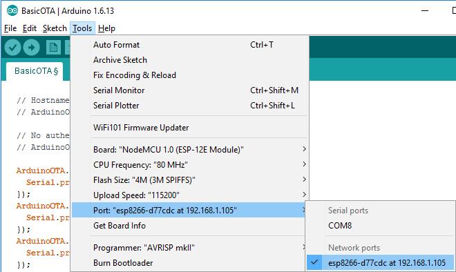ESP8266 OTA with Arduino IDE | Random Nerd Tutorials
