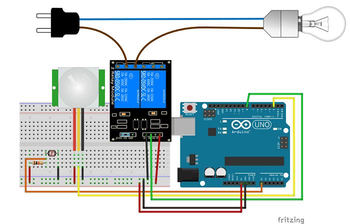night security light with arduino random nerd tutorials rh randomnerdtutorials com Opto-Isolator Arduino Relay Example Arduino DHT11 Controlled Relay Module