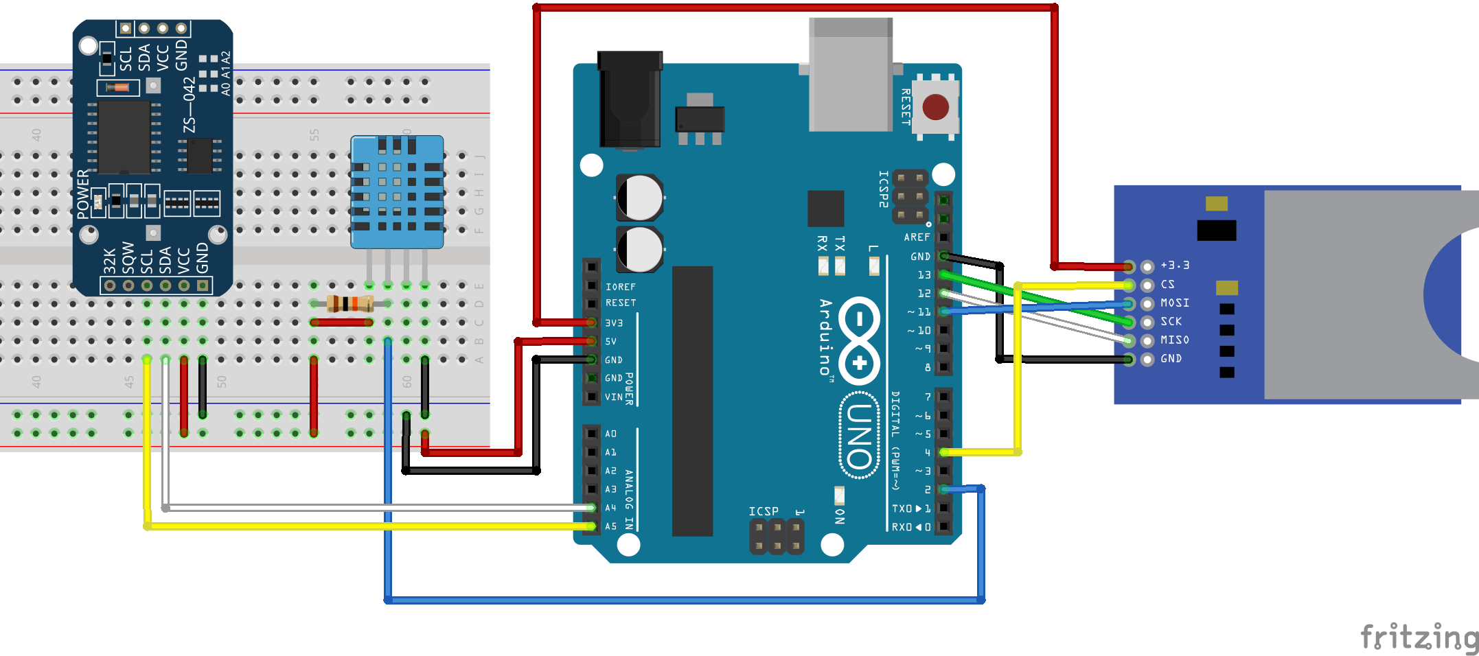 Arduino Temperature Data Logger Random Nerd Tutorials How To Build A Realtime Clock Circuit With An Note Make Sure Your Sd Card Is Formatted And Working Properly Read Guide Module