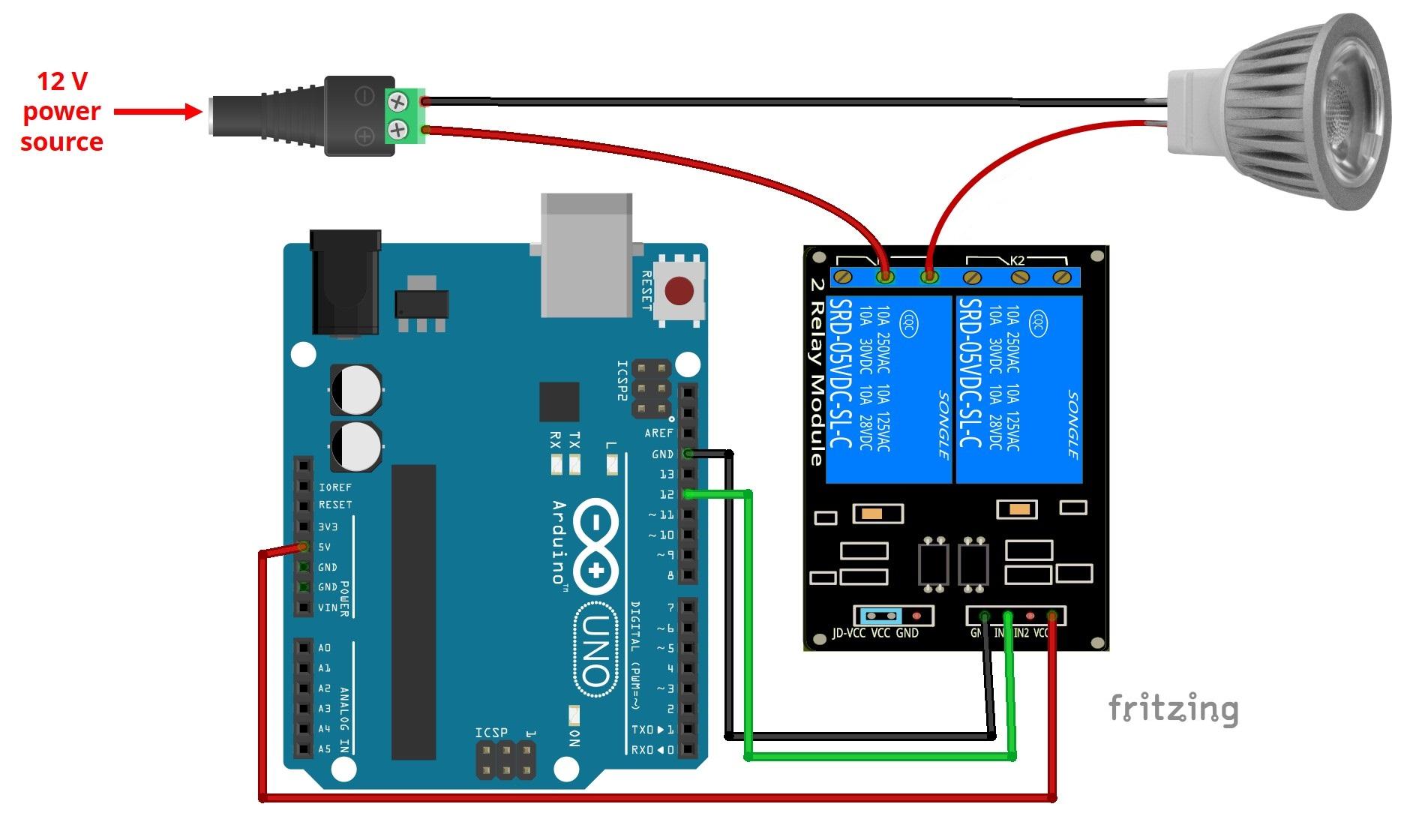 control 12v lamp via sms with arduino