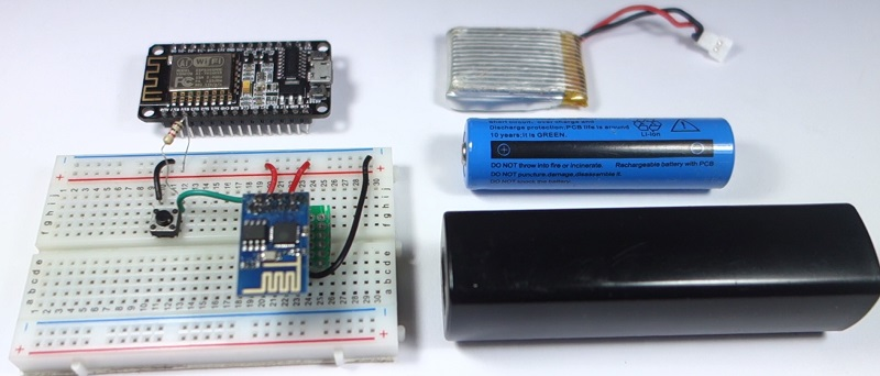 ESP8266 Deep Sleep and Wake Up Sources