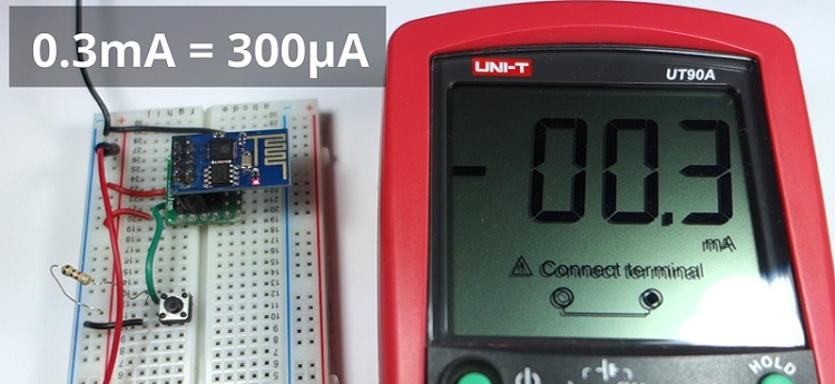 Measure Current in Deep Sleep Mode ESP8266