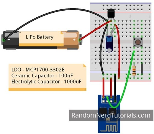 ESP8266 Voltage Regulator For LiPo and Li-ion Batteries | Random