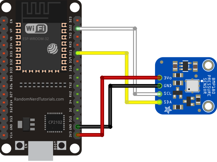bmp180 esp32 wiring diagram