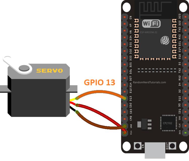 ESP32 Servo Motor Web Server with Arduino IDE | Random Nerd Tutorials