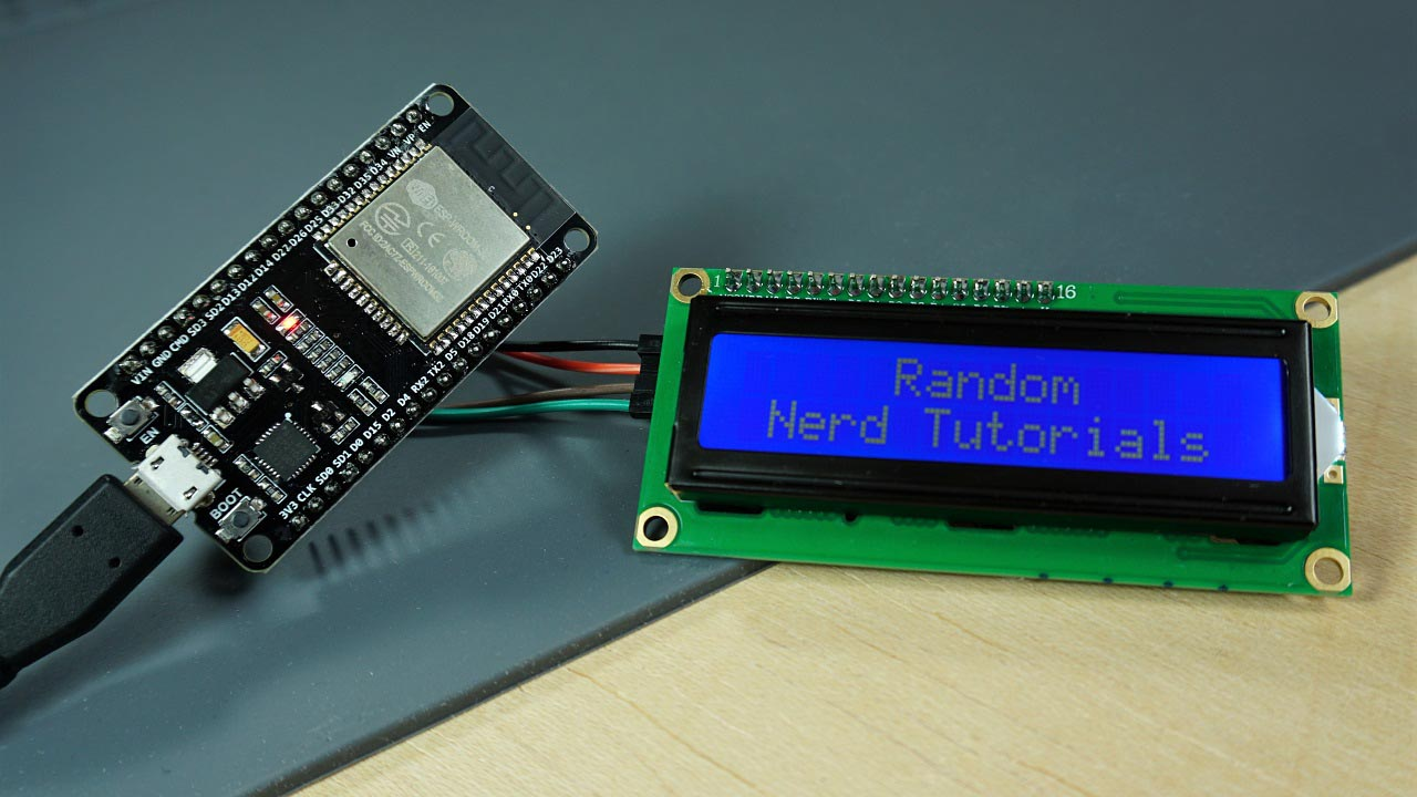 I2c Lcd With Esp32 On Arduino Ide Esp8266 Compatible Random Nerd Contrast Control For Lcds 162 Liquid Crystal Display