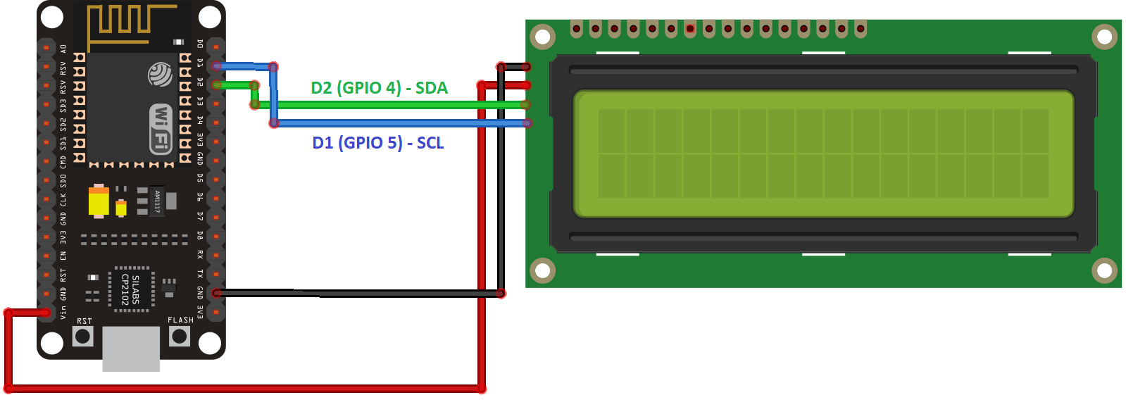 Wire Diagram 4 Pin Lcd Detailed Schematics Rocker Switch Wiring How To Make A Bench Power Supply From An Old Atx I2c With Esp32 On Arduino Ide Esp8266 Compatible Random Nerd 15 Source