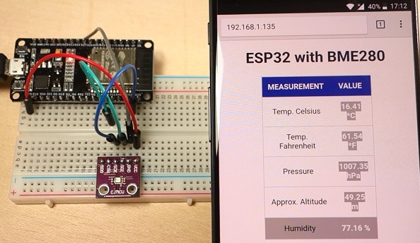 Roger F Dupuis - ESP32 Web Server with BME280 – Mini Weather Station