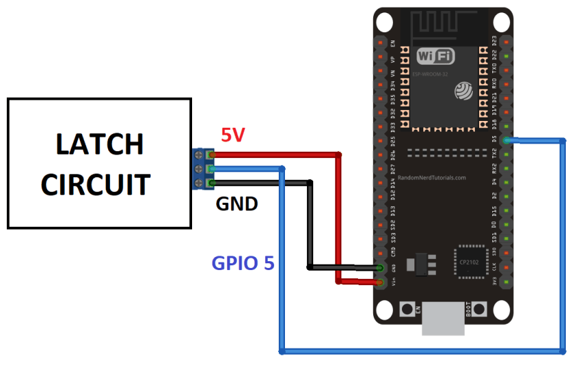 power latch circuit schematics esp32