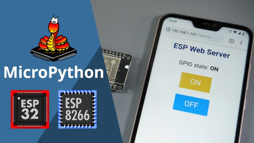 esp32 web server with micropython on smartphone