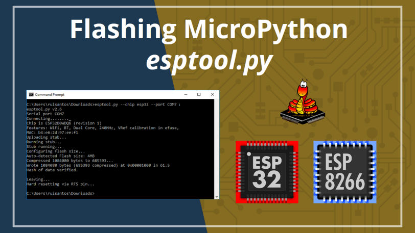 Flashing MicroPython Firmware with esptool py on ESP32 and