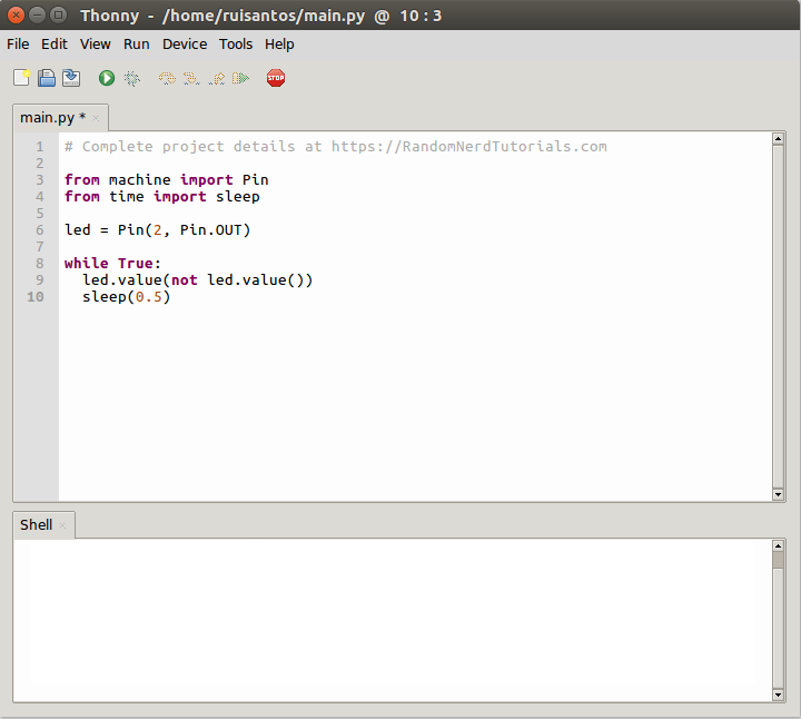 Getting Started with Thonny MicroPython (Python) IDE for ESP32 and