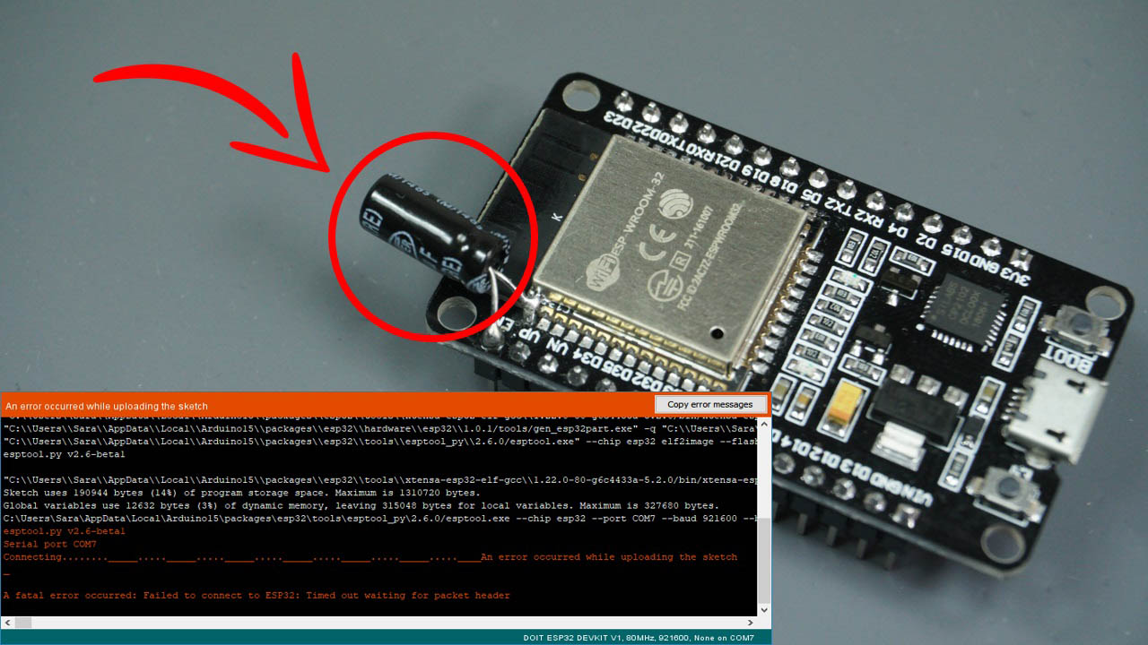 SOLVED] Failed to connect to ESP32: Timed out waiting for