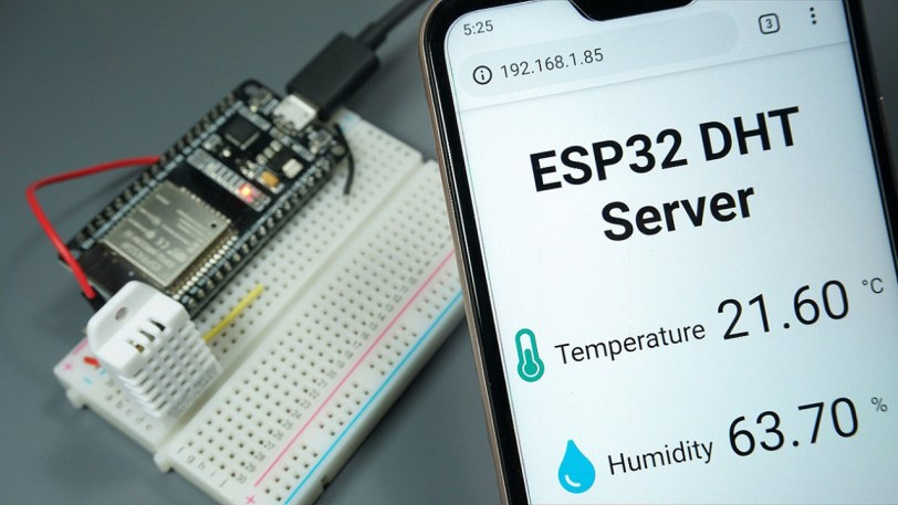 Esp32 Dht11 Dht22 Web Server Using Arduino Ide Random
