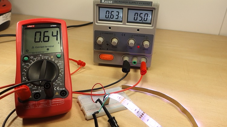 ESP32/ESP8266 RGB LED Strip Circuit and Schematic NPN transistor