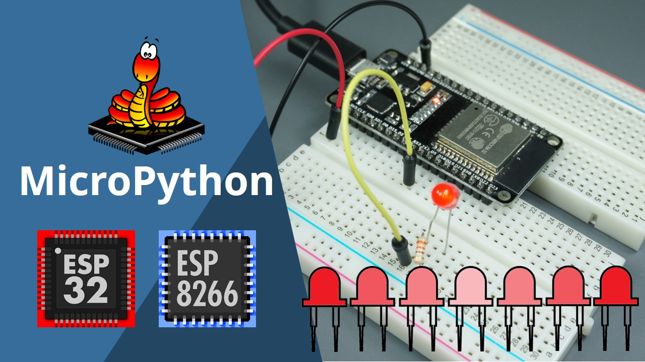 ESP32/ESP8266 PWM with MicroPython - Dim LED | Random Nerd Tutorials