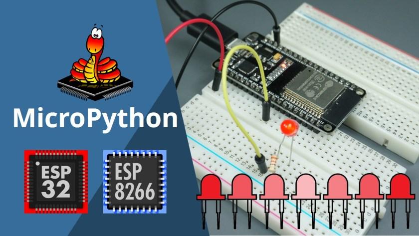 ESP32/ESP8266 PWM with MicroPython Dim LED