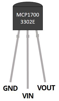 MCP1700-3320E pinout pins