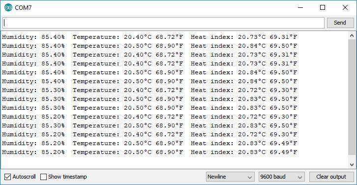 ESP32 DHT11 DHT22 AM2302 AM2301 read temperature humidity sensor