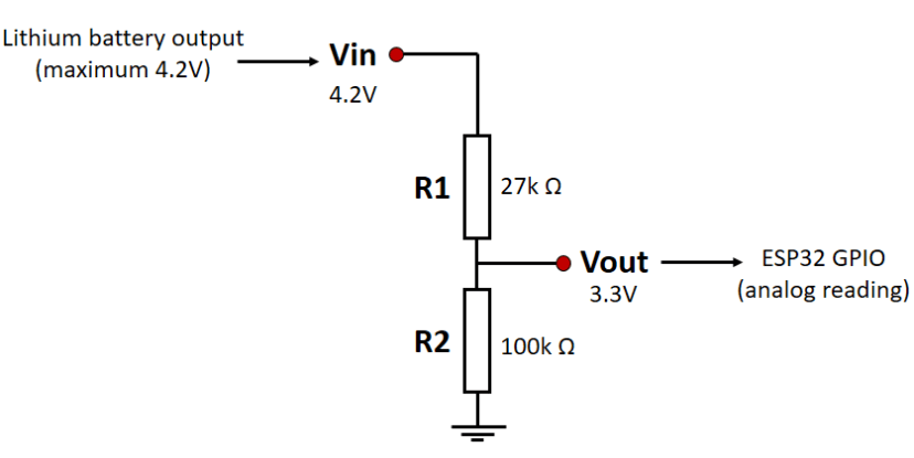 Battery Voltage Level Monitoring Circuit Schematic