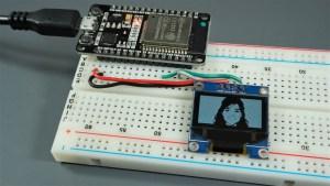 ESP32 Arduino OLED Display Image circuit