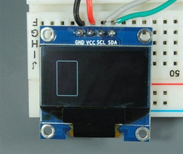 ESP32 ESP8266 Arduino OLED Display Rectangle Vertical
