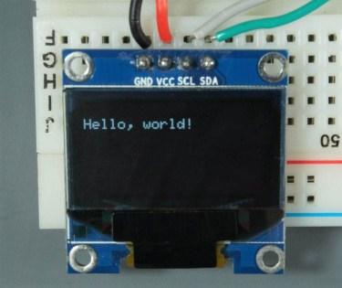 ESP32 ESP8266 Arduino OLED Display hello world