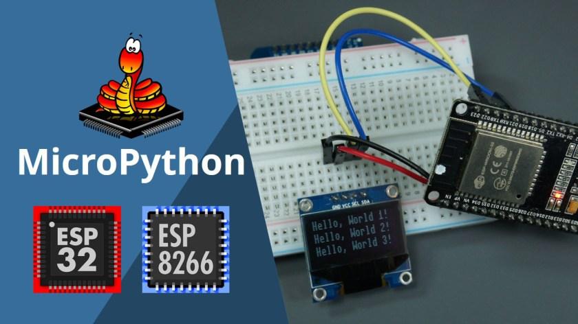 oled display esp8266 esp32 micropython