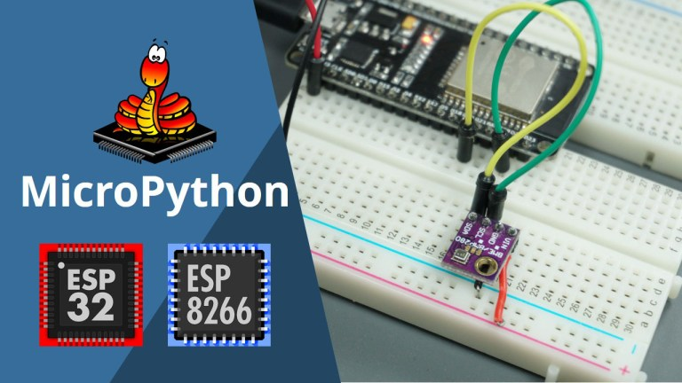 MicroPython BME280 with ESP32 and ESP8266 Temperature, Humidity, Pressure