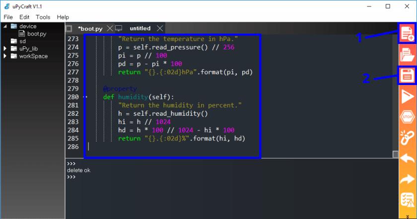 Install BME280 library MicroPython ESP32 ESP8266 uPyCraft IDE step 1