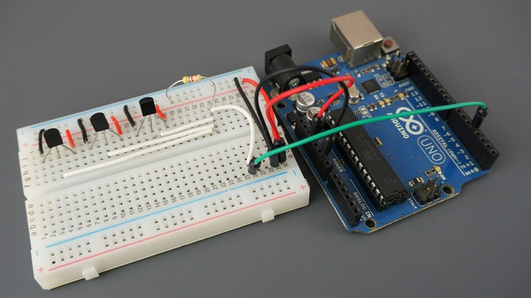 Getting Temperature from Multiple DS18B20 Sensors