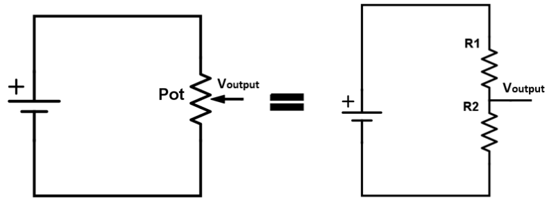 Potentiometer as Voltage divider circuit