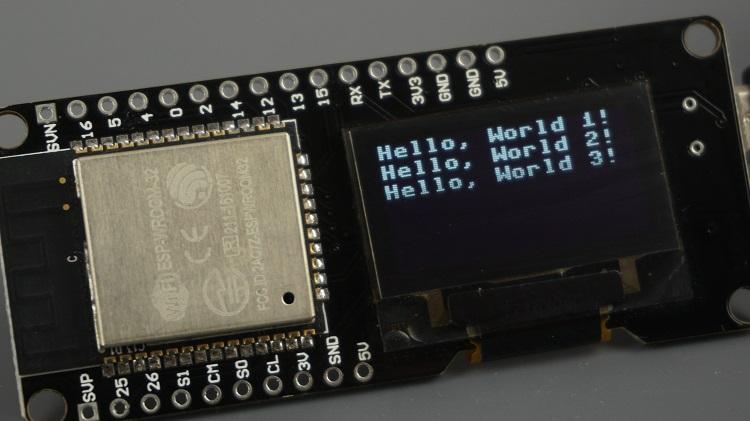 Wemos Lolin32 ESP32 OLED Control with MicroPython