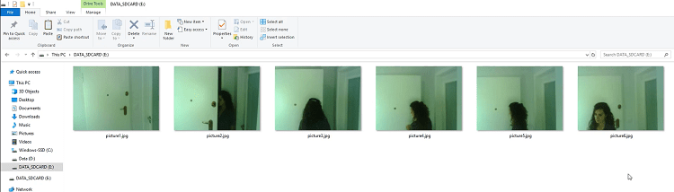 ESP32-CAM takes photo when detects motion with PIR sensor photo demonstration