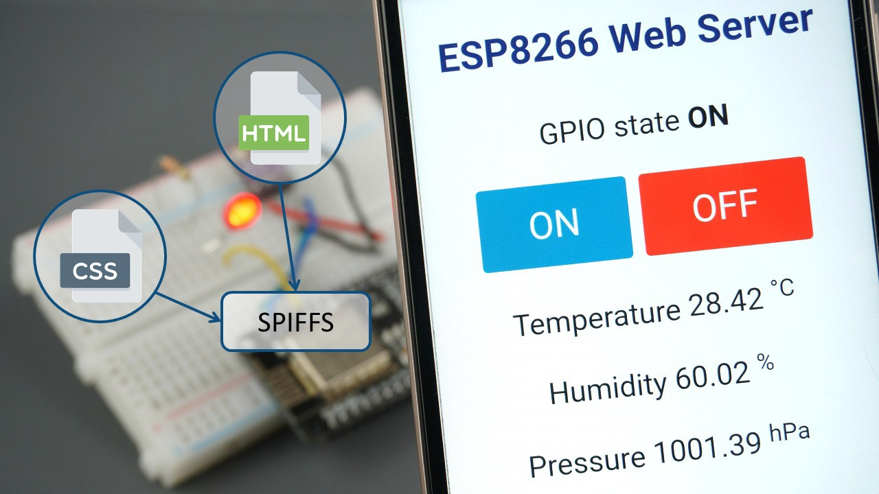 ESP8266 Web Server using SPIFFS with Arduino IDE (NodeMCU