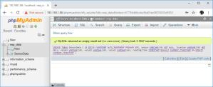 Raspberry Pi phpMyAdmin run SQL table created
