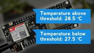 ESP32 SIM800L Send Text Messages (SMS Alert) with Sensor Readings