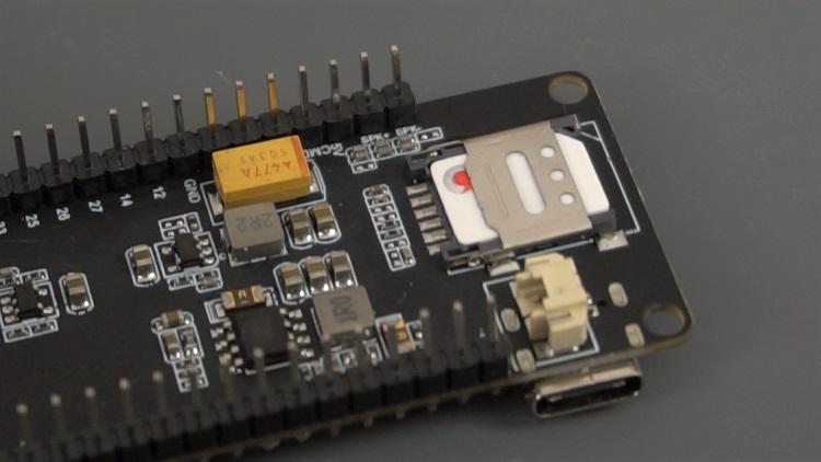 TTGO T-Call ESP32 SIM800L Insert nano SIM card