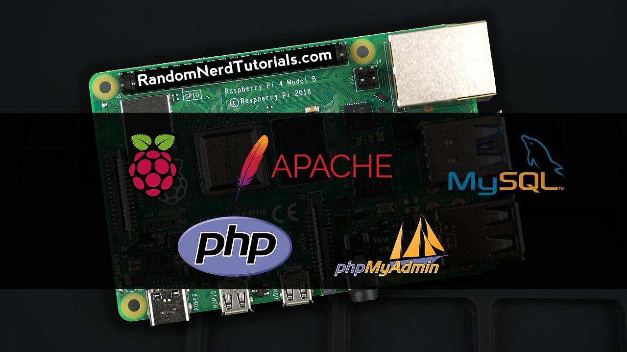 Install on Raspberry Pi Apache + PHP + MySQL + phpMyAdmin LAMP Server