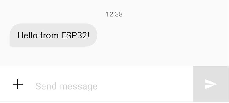 Send SMS with T-Call ESP32 SIM800L Board