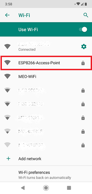 Connect to ESP8266 NodeMCU Access Point (AP Mode)
