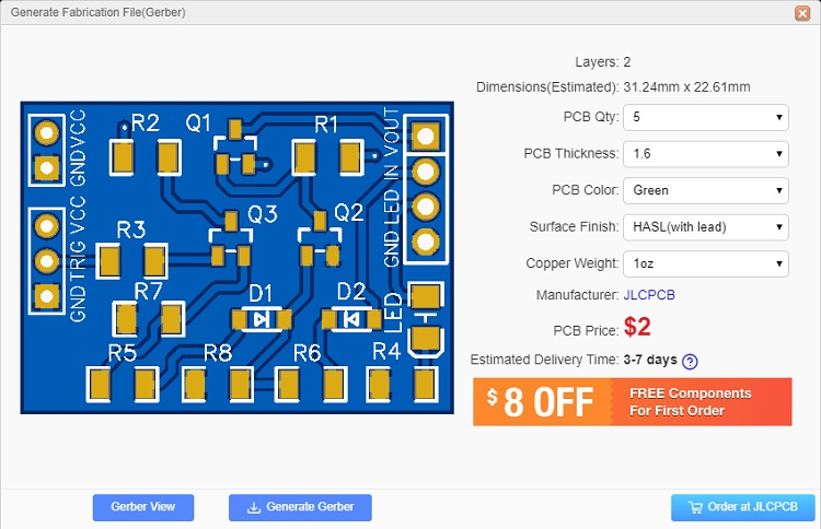 Auto Power Off Latching Power Circuit Order PCBs Export Gerber Files