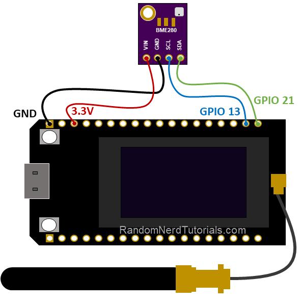 TTGO LoRa32 SX1276 OLED board ESP32 Sender