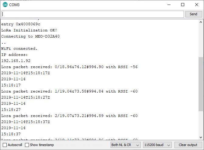 ESP32 Arduino IDE Serial Monitor window